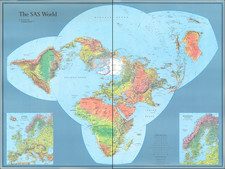 World Map By Scandinavian Airlines Systems