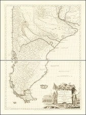 South America, Argentina and Chile Map By Thomas Kitchin