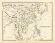 China, Philippines, Indonesia, Malaysia, Thailand, Cambodia, Vietnam and Hong Kong Map By Chapman & Hall