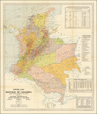Colombia Map By National Federation of Coffee Growers of Colombia