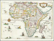 Africa Map By Matthaus Merian