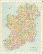 Ireland Map By George F. Cram