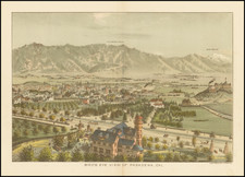 Los Angeles and Other California Cities Map By Los Angeles Lithographic Co.