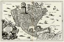 North America Map By Heinrich Scherer
