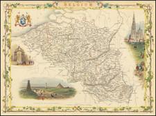 Belgium Map By John Tallis