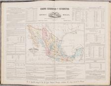 Mexico and Atlases Map By Antonio Garcia y Cubas