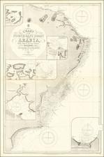 Arabian Peninsula Map By British Admiralty