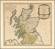 Scotland Map By Louis Brion de la Tour
