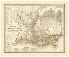 Louisiana Map By Joseph Meyer  &  Carl Radefeld