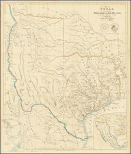 Texas and Southwest Map By John Arrowsmith