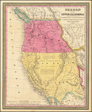 Oregon and Upper California . . . 1847 By Samuel Augustus Mitchell