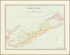 Bermuda Map By George F. Cram