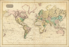 World Map By W. & D. Lizars