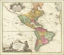 California as an Island and America Map By Johann Baptist Homann