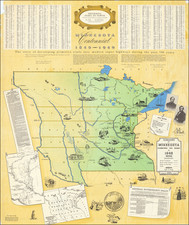 Minnesota and Pictorial Maps Map By Minnesota Historical Society