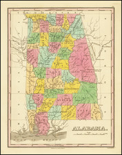 Alabama Map By Anthony Finley