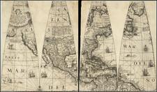 Virginia and North America Map By Jan Jansson / Abraham Goos / Jodocus Hondius II