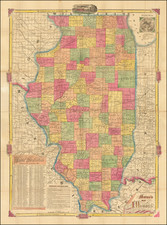 Illinois Map By Rufus Blanchard
