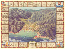 Pictorial Maps, California and Other California Cities Map By L.C.B. Co.