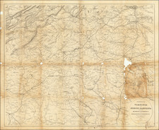 Virginia and North Carolina Map By J. Schedler