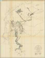 Montana and Wyoming Map By U.S. Army Corps of Topographical Engineer