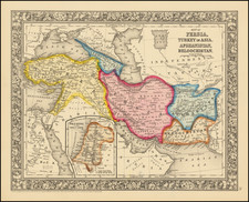 Central Asia & Caucasus, Persia and Turkey & Asia Minor Map By Samuel Augustus Mitchell Jr.
