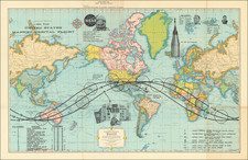 World and Space Exploration Map By Rand McNally & Company