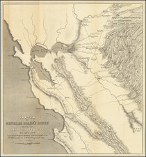 Sketch of General Riley's Route Through the Mining Districts July and Aug. 1849 By George Derby  &  J.McH. Hollingsworth