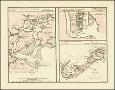 New York City, New York State, New Jersey and Bermuda Map By Philippe Buache