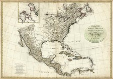 North America Map By J. Harrison