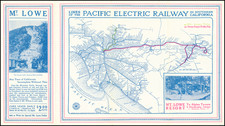 California and Los Angeles Map By D.W. Pontius / Pacific Electric Railway