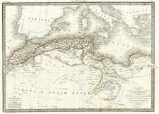 Africa and North Africa Map By Alexandre Emile Lapie
