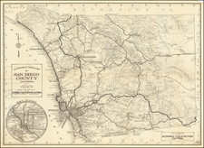 California and San Diego Map By Automobile Club of Southern California