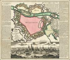 Belgium Map By Matthaus Seutter