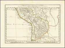 Peru & Ecuador Map By Philippe Buache
