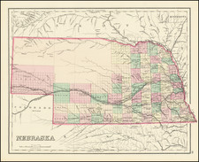 Nebraska Map By O.W. Gray