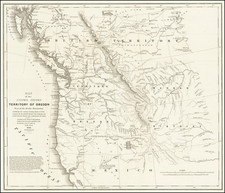 Map of the United States Territory of Oregon West of the Rocky Mountains . . . 1838   By Washington Hood