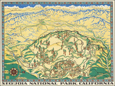 Pictorial Maps, California and Yosemite Map By Della Taylor Hoss