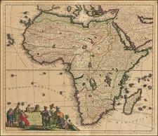 Totius Africae Accuratissima Tabula . . . By Justus Danckerts