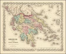 Greece Map By G.W.  & C.B. Colton