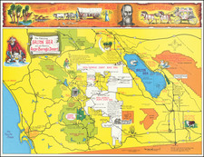 Pictorial Maps and California Map By Triumph Press Inc.