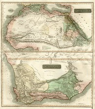 Africa, Africa, North Africa and South Africa Map By John Thomson