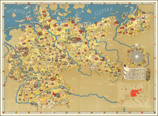 Germany, Pictorial Maps and World War II Map By Riemer