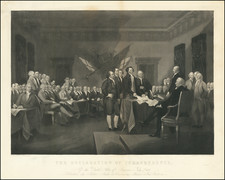United States, Portraits & People and Curiosities Map By John Trumbull
