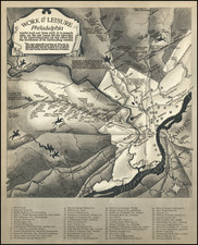 Pictorial Maps and Philadelphia Map By Ernest Hamlin Baker