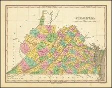 Virginia Map By Anthony Finley