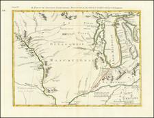 Midwest, Illinois, Indiana, Michigan, Wisconsin and Iowa Map By Antonio Zatta