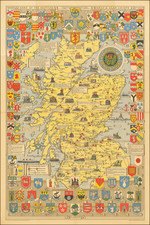 Scotland and Pictorial Maps Map By John Bartholomew