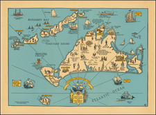 Massachusetts and Pictorial Maps Map By Noble