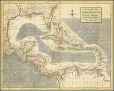 Florida, Southeast and Caribbean Map By Thomas Kitchin / London Magazine